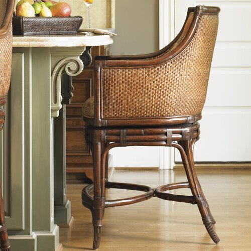 Landara Oceana Swivel Bar Stool with Cushion
