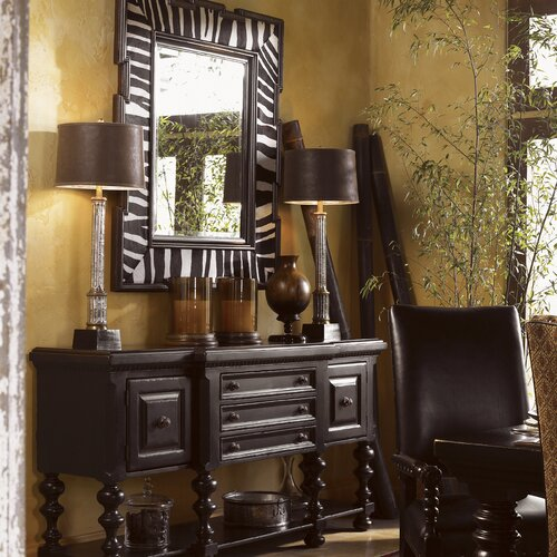Tommy Bahama Home Kingstown Regiment Console Table and Mirror Set