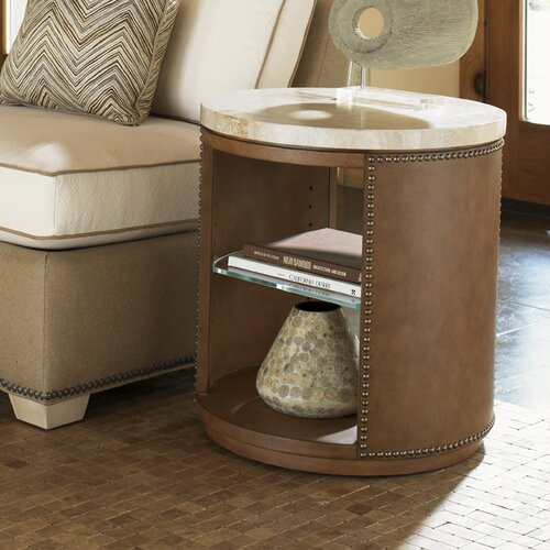 Tommy Bahama Home Road to Canberra East Timor End Table
