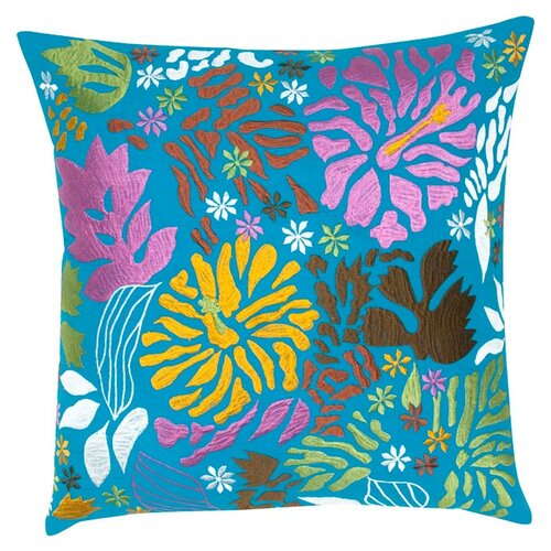 India's Heritage Floral Embroidery Pillow