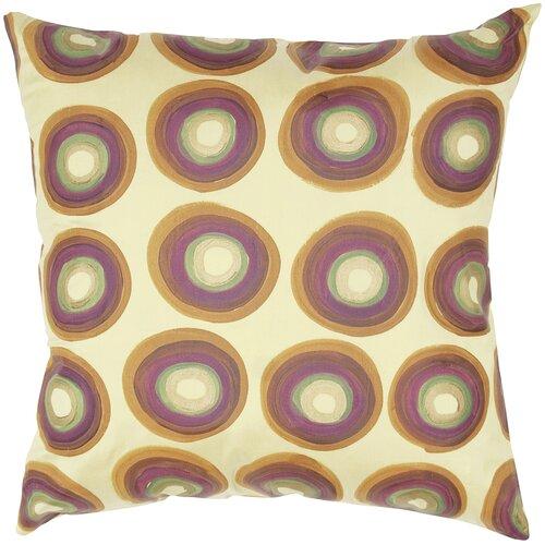 India's Heritage Dupioni Print Circle Design Silk Pillow