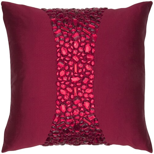 India's Heritage Crystal Square Silk Pillow
