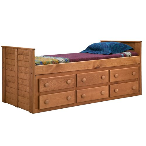Twin Captain Bed With 6 Drawers Wayfair