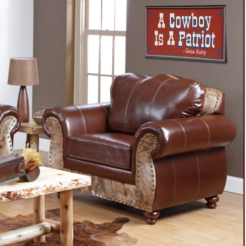 Chelsea Home Saddle Me Up Top Grain Leather Chair