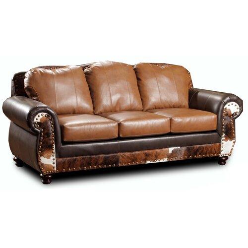 Chelsea Home Denver Leather Sofa