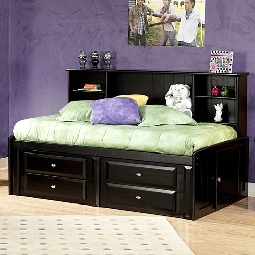 Twin Mate's Bed with Bookcase and Storage
