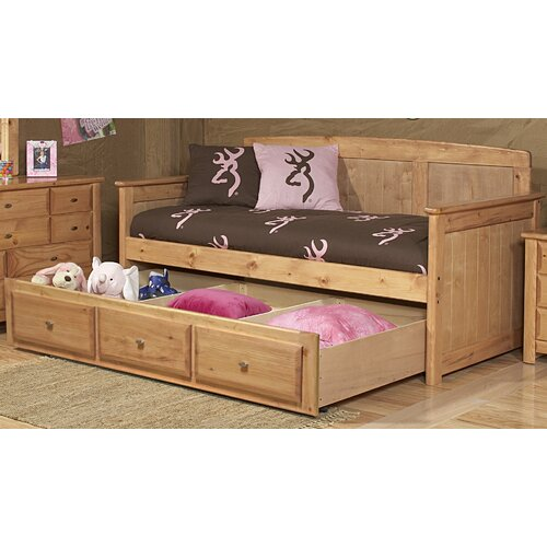 Chelsea home twin panel bed with trundle storage