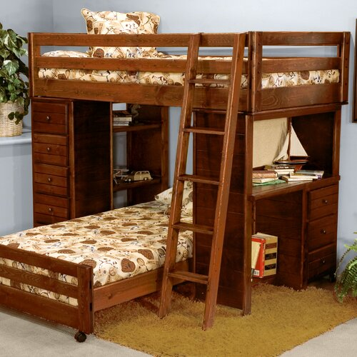 Lshaped Twin Bunk Beds with Desks 500 x 500