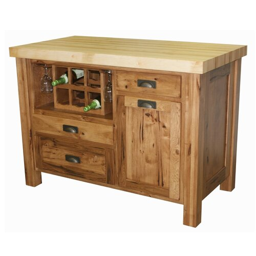 kitchen island butcher block top have