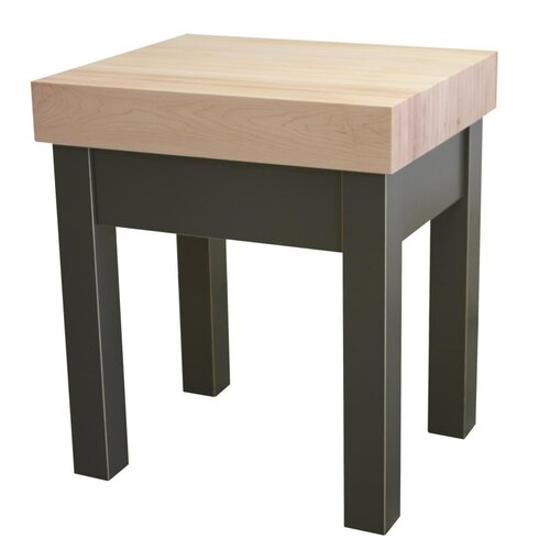 Guy Prep Table with Butcher Block Top