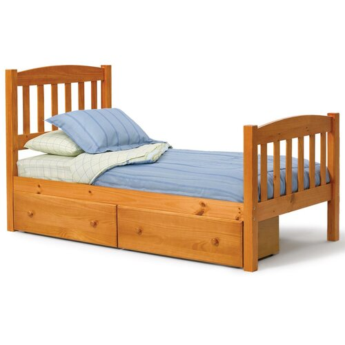 Chelsea Home Slat Bed with Underbed Storage