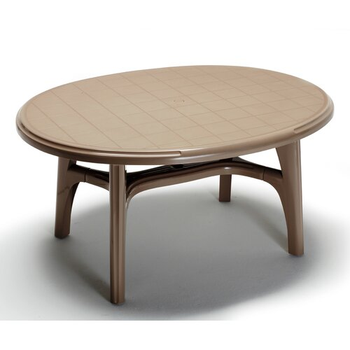 scab ovolone oval plastic dining table wayfair uk