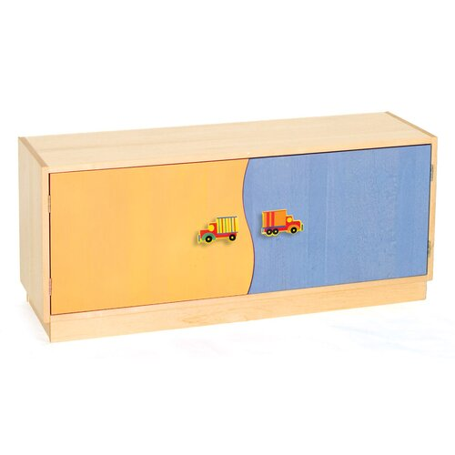 "Room Magic Boys Like Trucks 2-Door 20"" Book Cabinet"