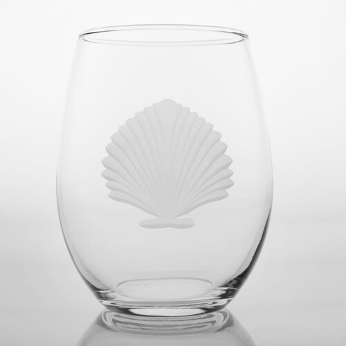 Seashell Stemless Wine Glass (Set of 4)