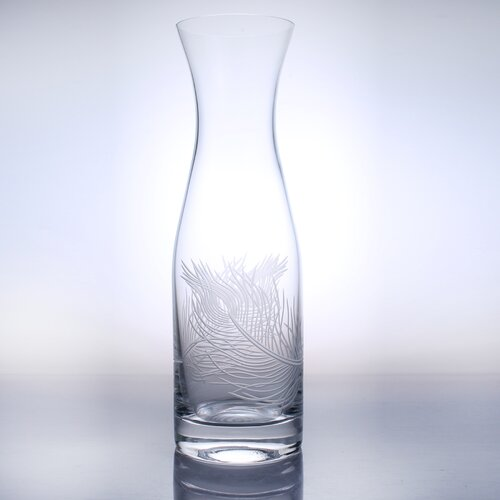 Peacock 34 Oz Carafe Glass