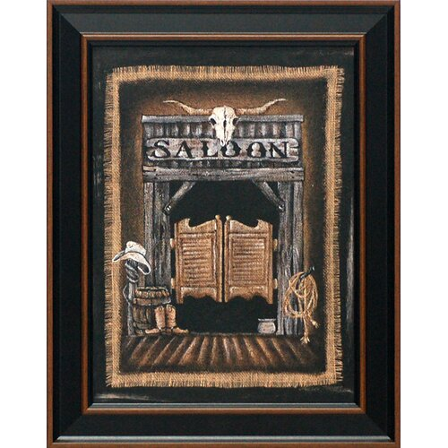 Saloon Framed Graphic Art