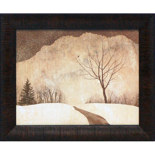 Winter Path Framed Painting Print