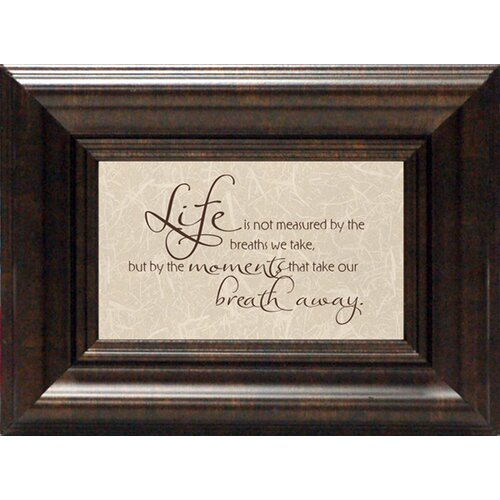Life Is Not Measured Framed Textual Art