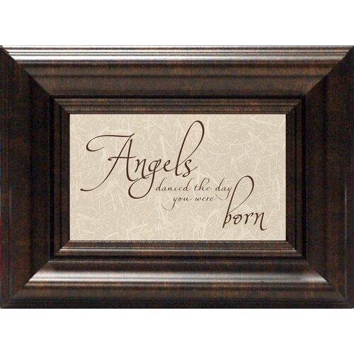 Artistic Reflections Angels Danced Framed Textual Art