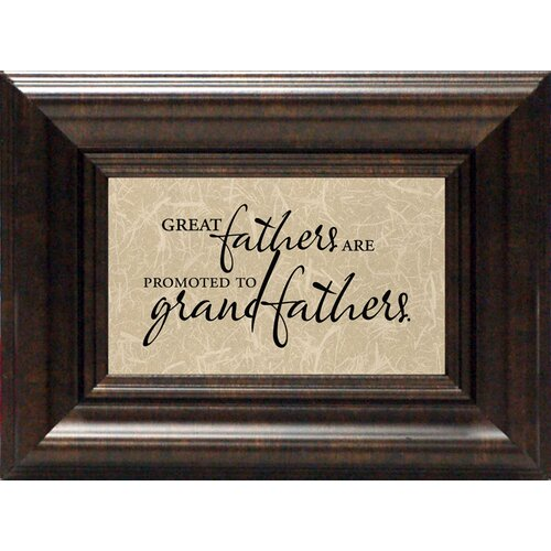 Artistic Reflections Great Fathers Framed Textual Art