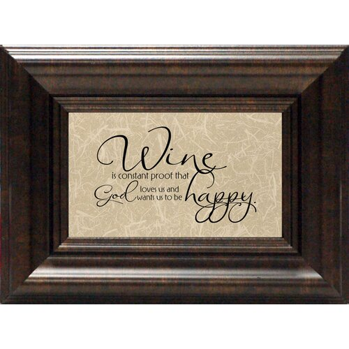 Artistic Reflections Wine Is Constant Proof? Framed Textual Art