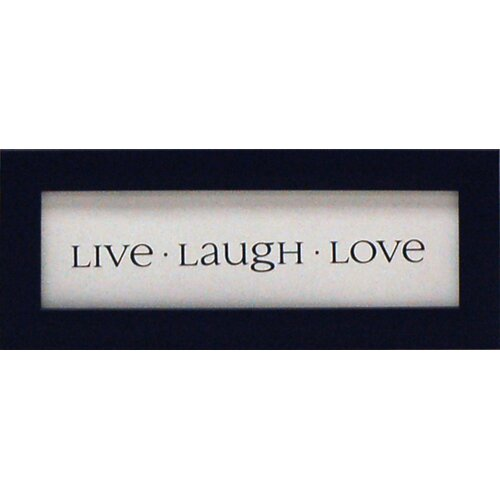 Live Laugh Love Framed Textual Art