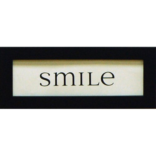 Artistic Reflections Smile Framed Textual Art