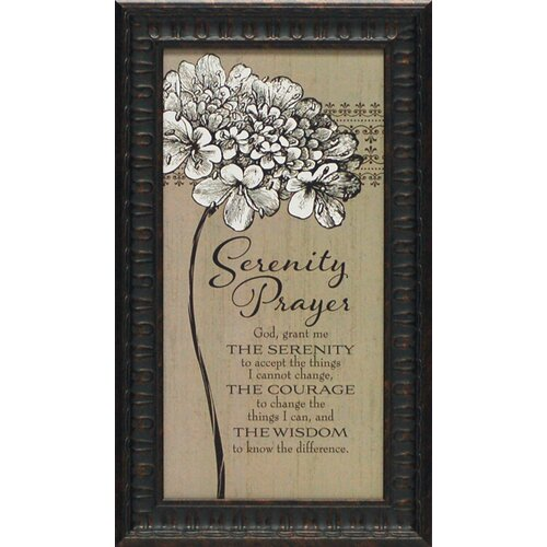 Artistic Reflections Serenity Prayer Framed Textual Art