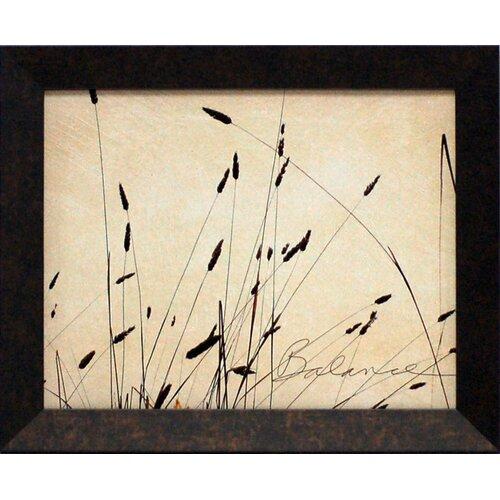 Grass Balance Framed Graphic Art