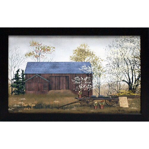 Flower Wagon Framed Painting Print