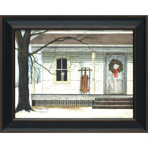 Winter Porch Framed Painting Print