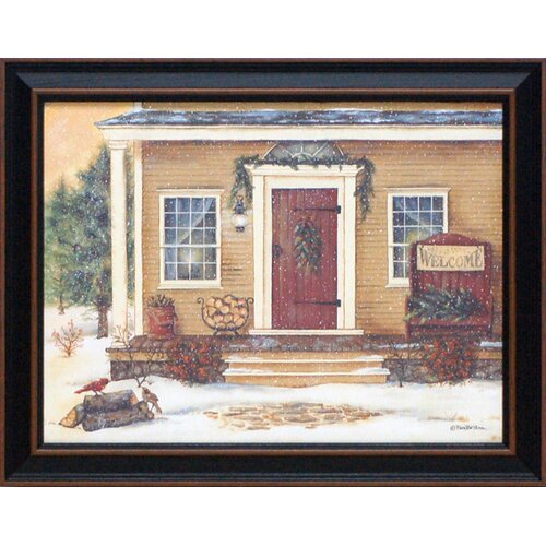 New England Winter Day Framed Painting Print