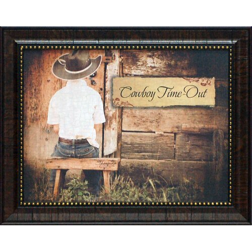 Artistic Reflections Cowboy Time Out Framed Graphic Art