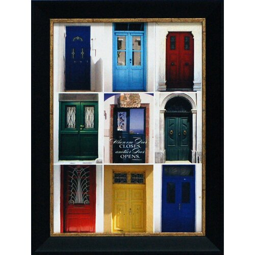 Artistic Reflections When One Door Closes Framed Photographic Print