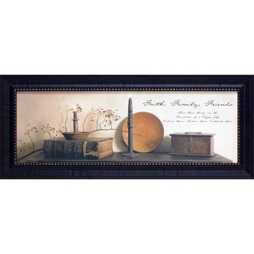 Artistic Reflections Faith Family Friends Framed Graphic Art