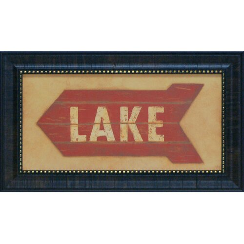 Lake Framed Textual Art
