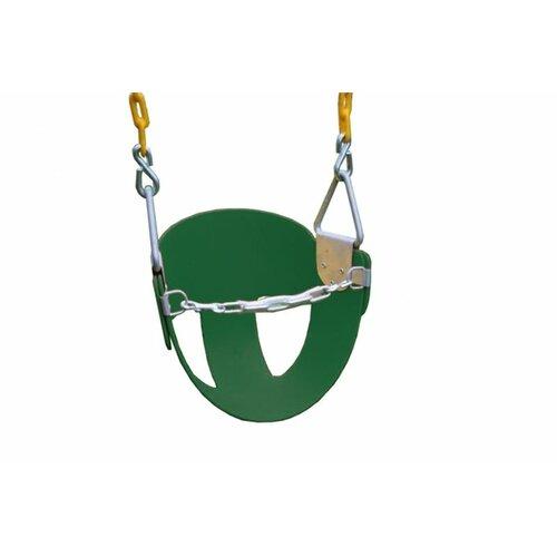 Heavy Duty High Back Half Bucket Swing with Coated Chain