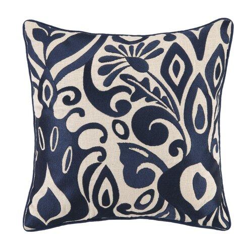 Citadel I Linen Embroidered Pillow