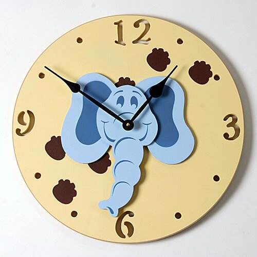 "Forest Creations 18"" Elephant Head Wall Clock"