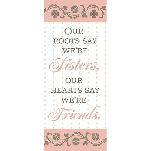Forest Creations Our Roots Say We're Sisters Kids Canvas Art