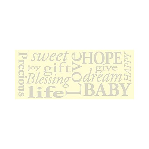 Baby Words Kids Canvas