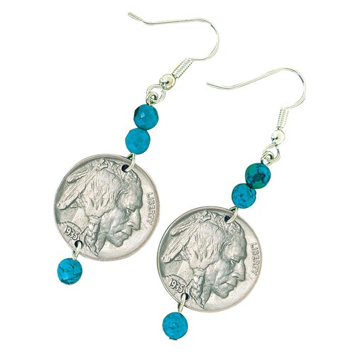 Buffalo Nickel Coin Earrings