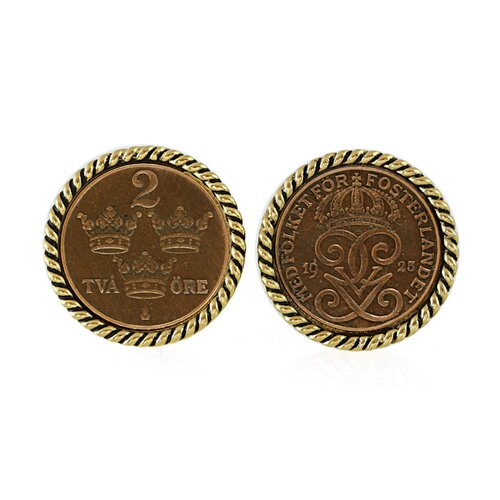Swedish Coin ORE Crown Cuff Links