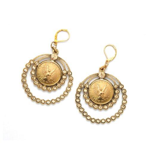 Angel Coin Chandelier Earrings