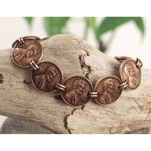 American Coin Treasures Copper Penny Bracelet