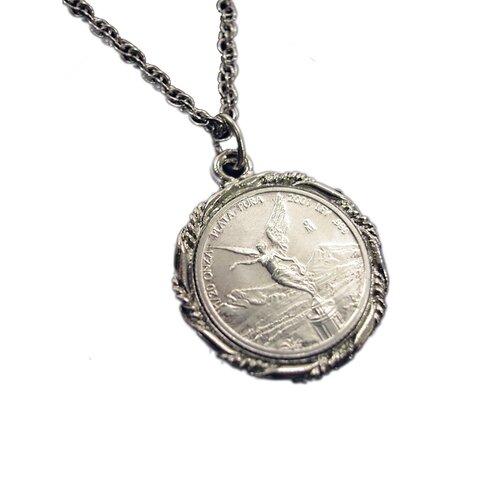 American Coin Treasures Mexican Libertad Angel Pendant