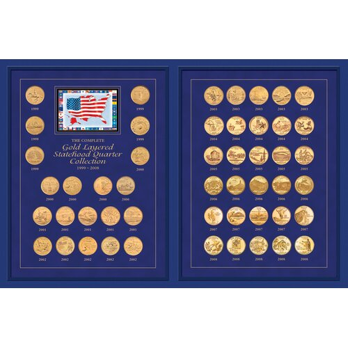 American Coin Treasures The Complete Statehood Quarter 1999 - 2008 Coin Set