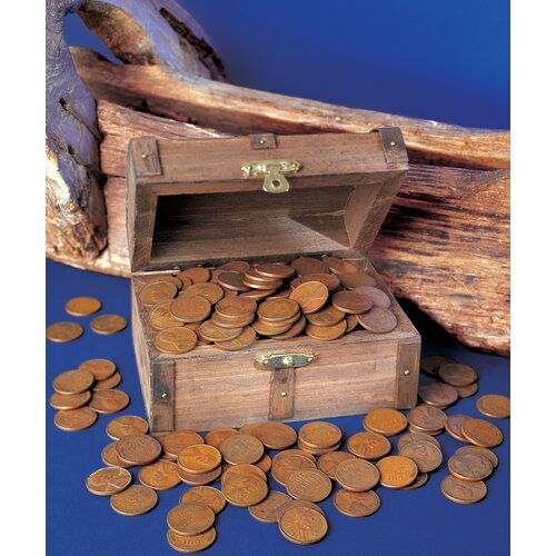 Lincoln Wheat Ear Pennies Treasure Chest