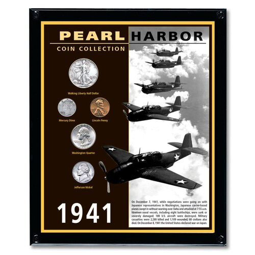 Pearl Harbor Coin Wall Framed Memorabilia