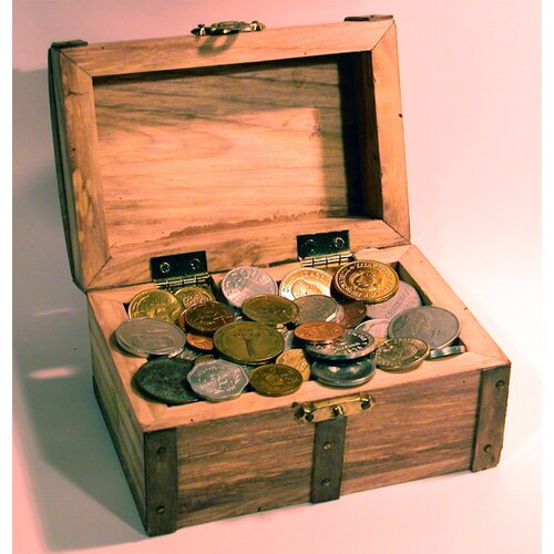 American Coin Treasures 50 Foreign Coins Treasure Chest